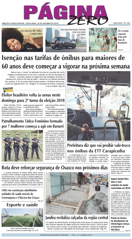 b1cfe3fec04bf Página Zero Edição nº 1367 (26 10 2018) by Para acessar o seu Página Zero -  issuu