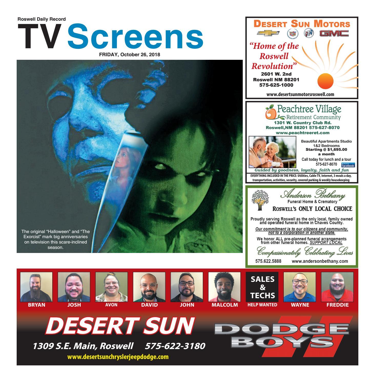 Desert Sun Roswell Nm >> Screens 10 26 18