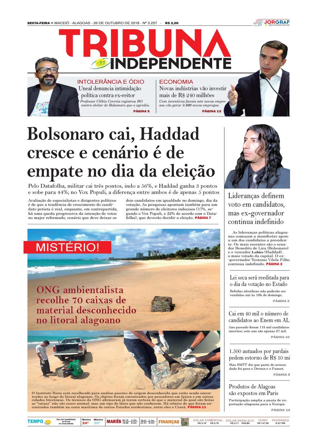 Edição número 3257 - 26 de outubro de 2018 by Tribuna Hoje - issuu 2999f50aed660