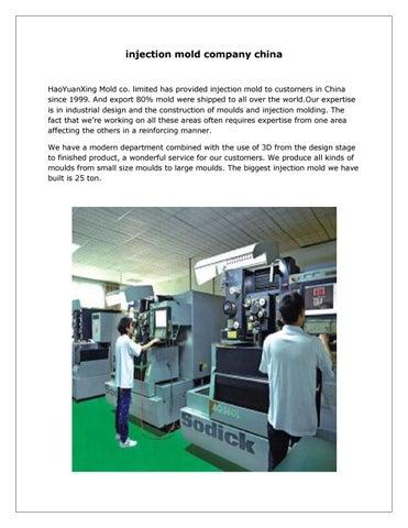 injection mold company china by Kelly Estes - issuu