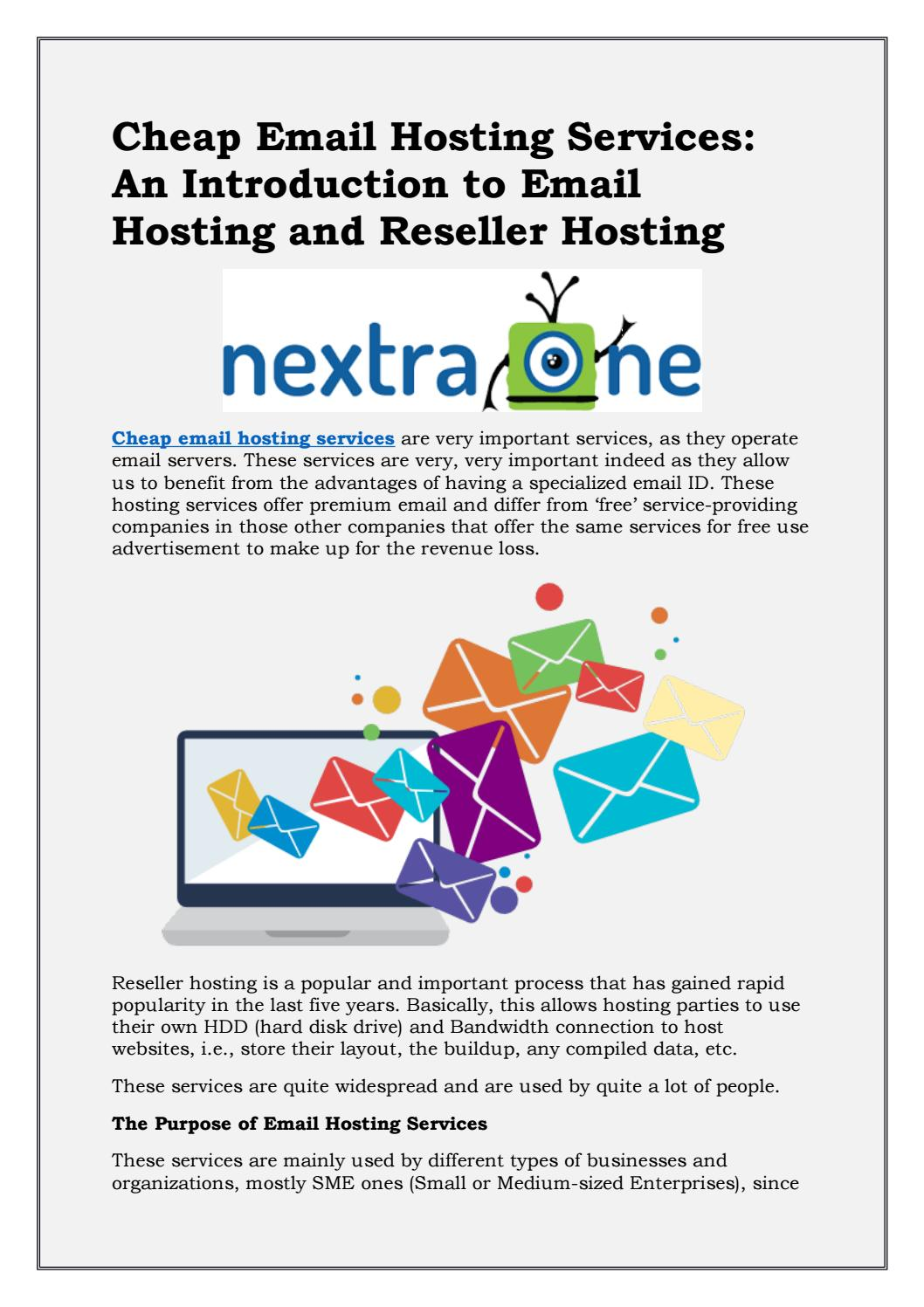 Cheap Email Hosting India By Nextra One Issuu