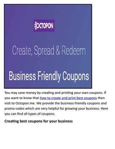 best business friendly limit coupon by octopon inc issuu