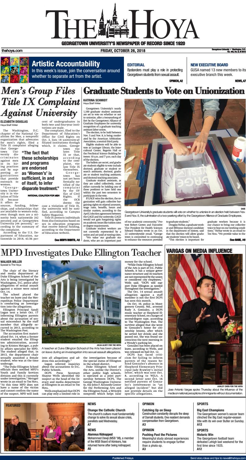 The Hoya: October 26, 2016 by The Hoya - issuu