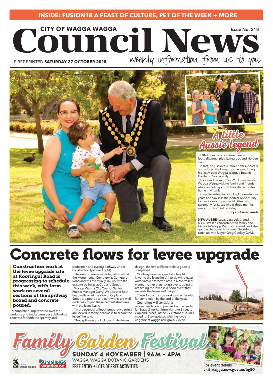 Council News #218 27 October 2018 by Wagga Wagga City