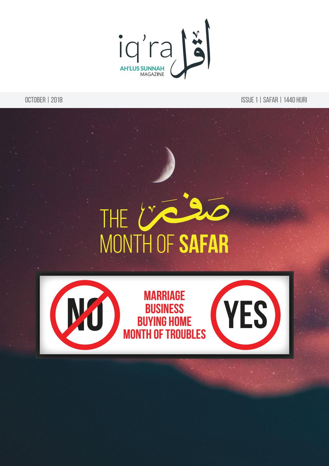 Iqra Ahlus Sunnah Magazine - October | 2018 ISSUE 1 | SAFAR