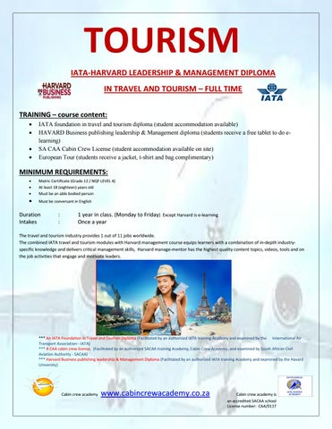 Travel and Tourism ZA at Cabin Crew Academy