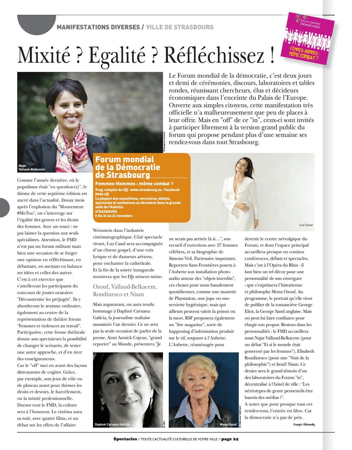 N°217 By Publications Spectacles Novembre 2018 Strasbourg Ku1J35lTFc