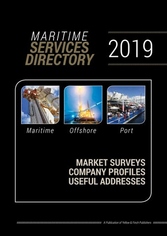 Maritime Services Directory 2019 by Yellow & Finch