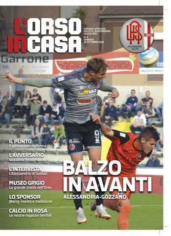 281ba4db2541d8 L'Orso in casa n.4 2018-19 by Alessandria Calcio - issuu