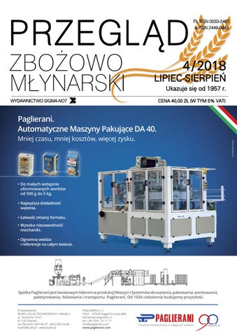 5bef69d8b7 Przeglad Zbozowo-Mlynarski 4 2018 by Monika - issuu