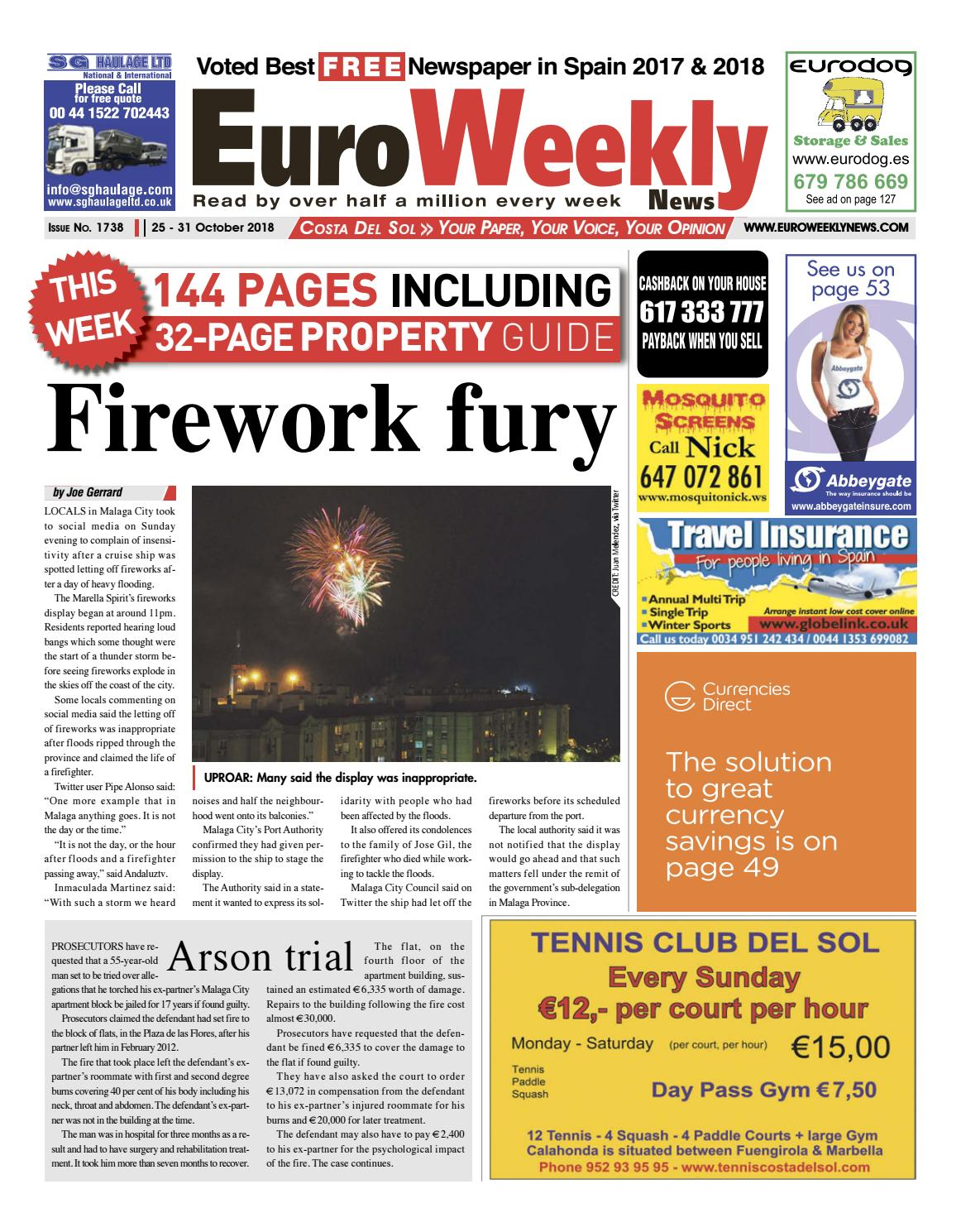 Euro Weekly News - Costa del Sol October 25 - 31 2018 Issue 1738 by Euro  Weekly News Media S.A. - issuu 52bfb74ff334a