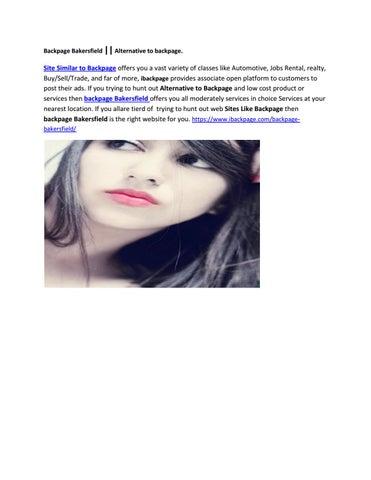 Backpage Bakersfield Sites Like Backpage