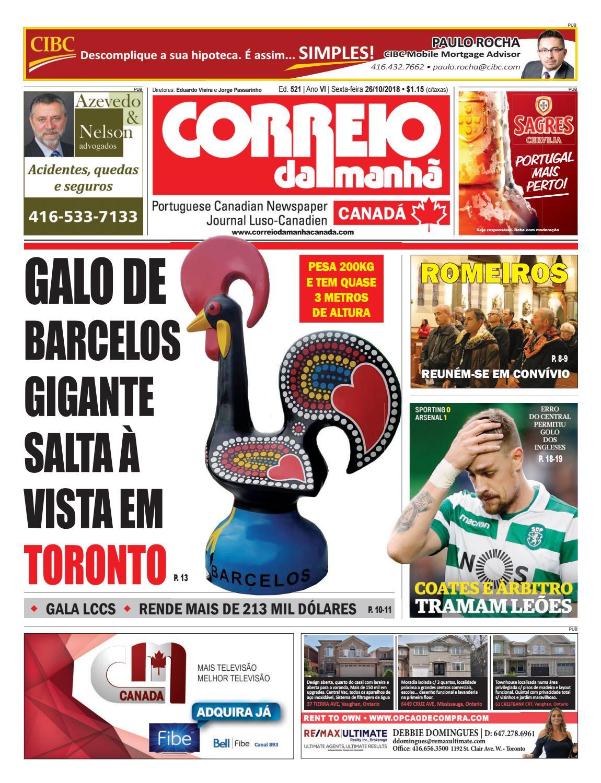 ed3719aec5 Correio da Manhã Canadá 26 de outubro 2018 by Correio da Manhã Canadá -  issuu