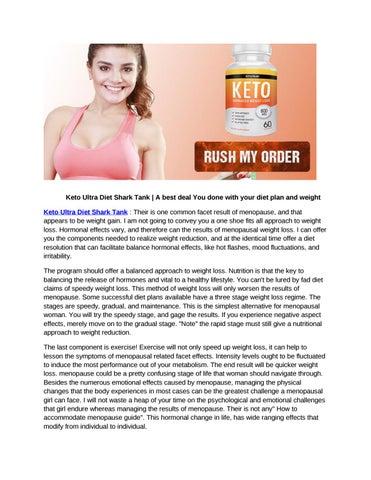 diet plan for menopause