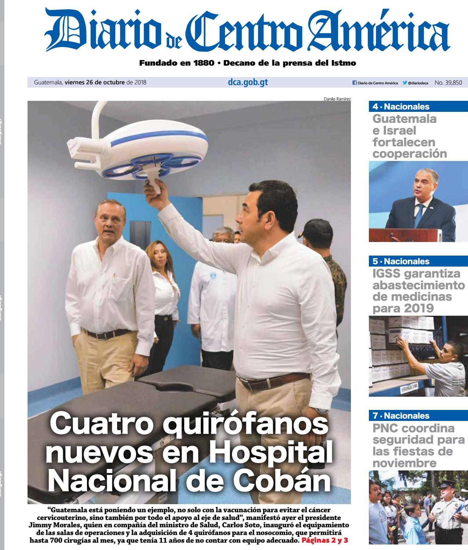 Edición del Diario de centro américa del 26 de octubre 2018 by Diario de  Centro América Guatemala - issuu 57d41554b3e33