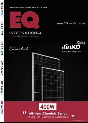 EQ Magazine Oct 2018 Edition by EQ Int'l Solar Media Group