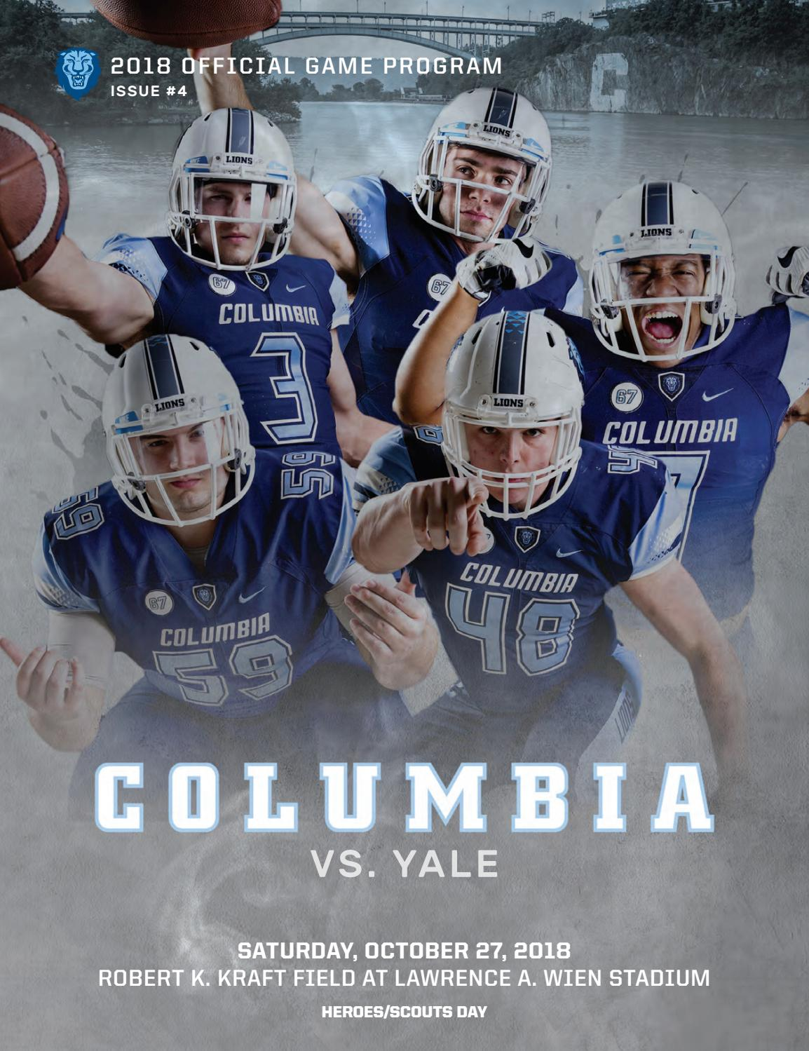 cc19e741 Columbia Football Game Program (Oct. 27, 2018) by Columbia ...