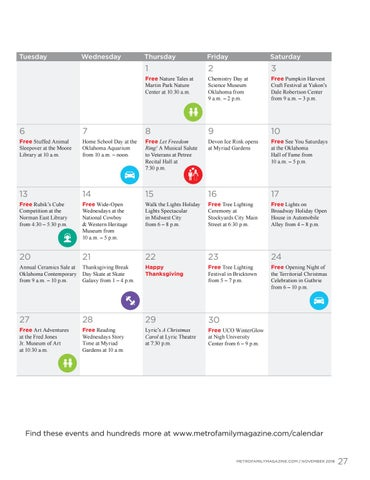 Page 27 of November calendar