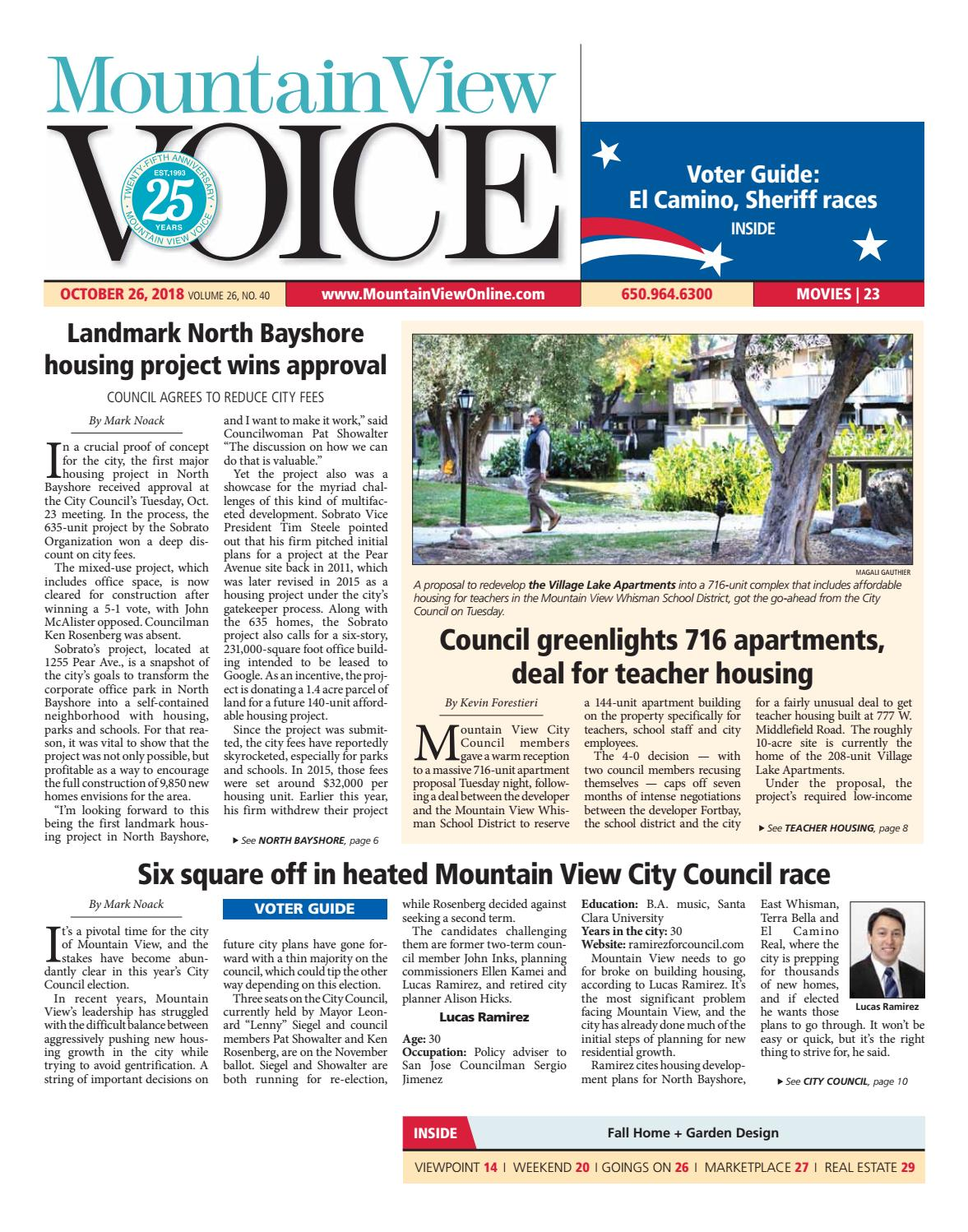 Mountain View Voice October 26, 2018 by Mountain View Voice