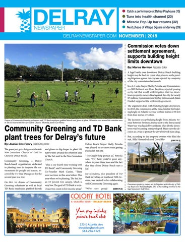 Delray Newspaper November 2018 By Four Story Media Group Issuu