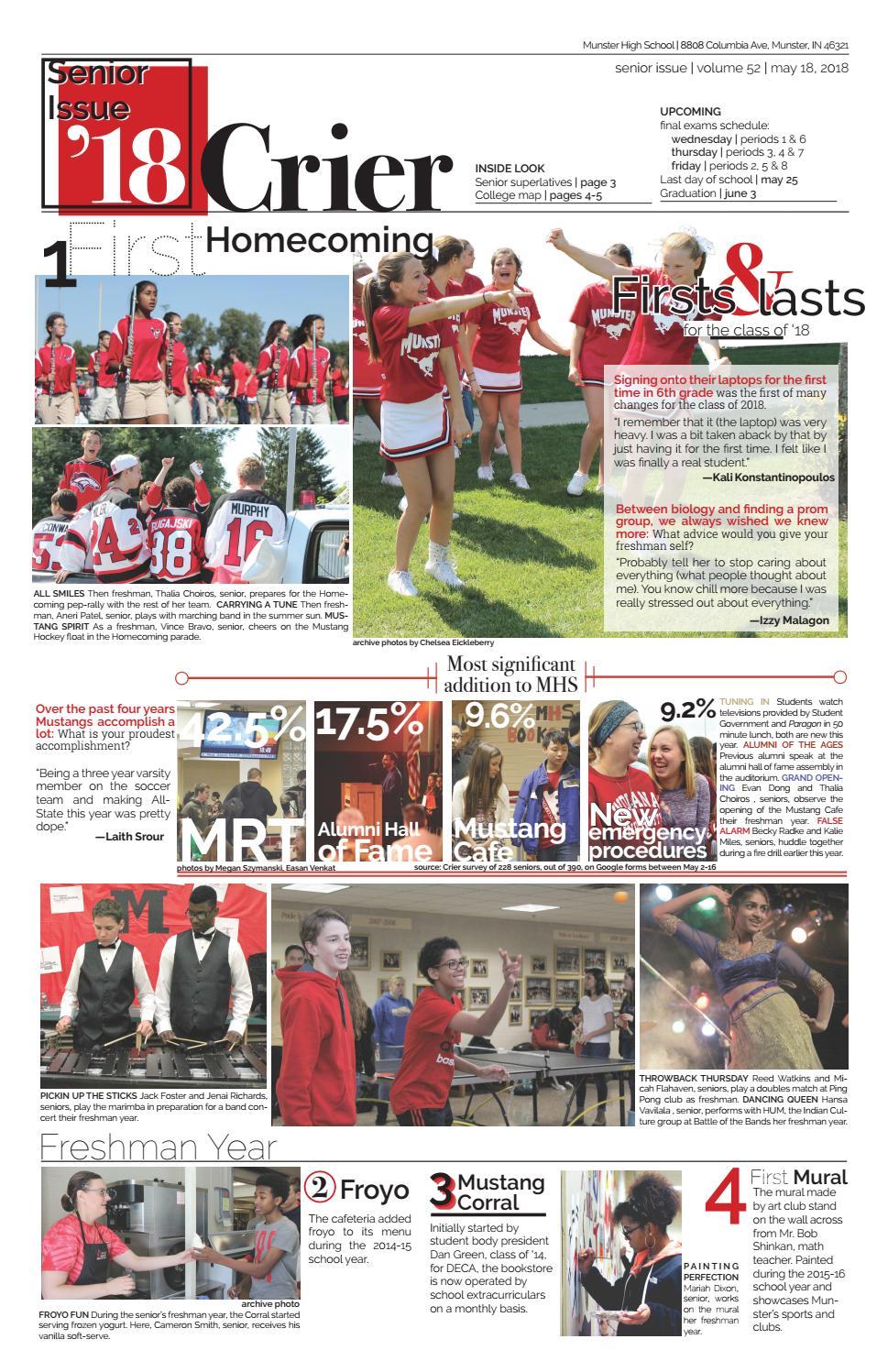 MHS Crier | 5 18 18 | senior issue by Munster High School Crier - issuu