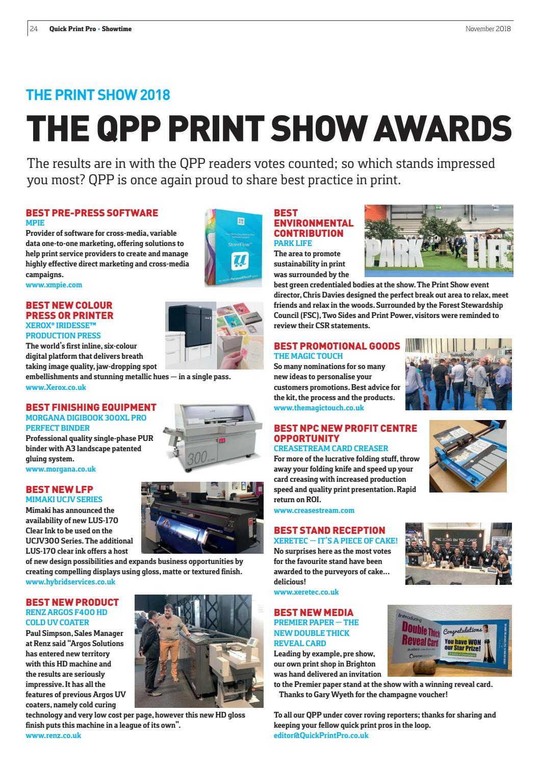 Quick Print Pro, November 2018 by The Magazine Production