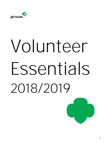 Volunteer Essentials 2018-2019 by Girl Scouts of Connecticut - issuu