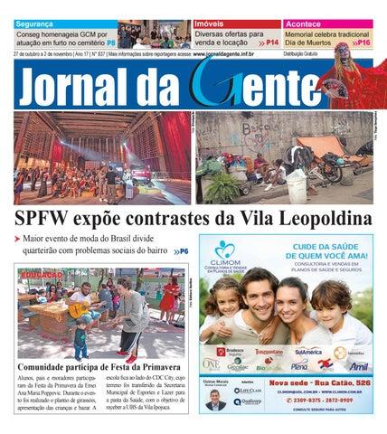 32d965198e0fb Jornal da Gente - Edição 837 - 27 de outubro a 2 de novembro de 2018
