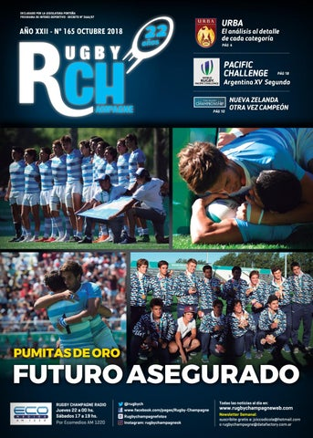 Revista RCH 165 Octubre 2018 by Rugby Champagne - issuu 50616b931bf14