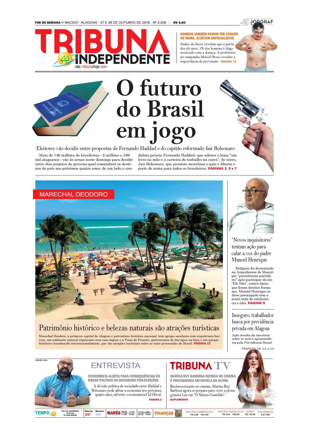 Edição número 3258 - 27 e 28 de outubro de 2018 by Tribuna Hoje - issuu 7e93033a06f2d