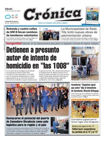 ebc32af6a0 Diario cronica 27 10 2018 by Diario Crónica - issuu