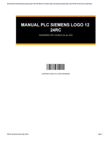 manual plc siemens logo 12 24rc