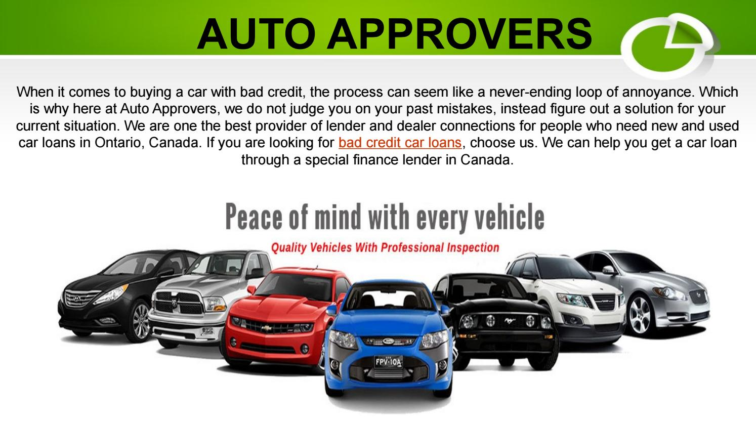 Bad Credit Car Dealerships >> Bad Credit Car Loan By Auto Approvers Issuu
