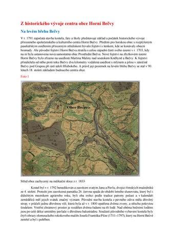 af17dbf25838 Z historického vývoje centra obce Horní Bečvy Na levém břehu Bečvy V r.  1791 započatá stavba kostela