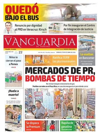 bd2487d7ea359 Diario Vanguardia de Veracruz - 27 de Octubre de 2018 by Vanguardia ...
