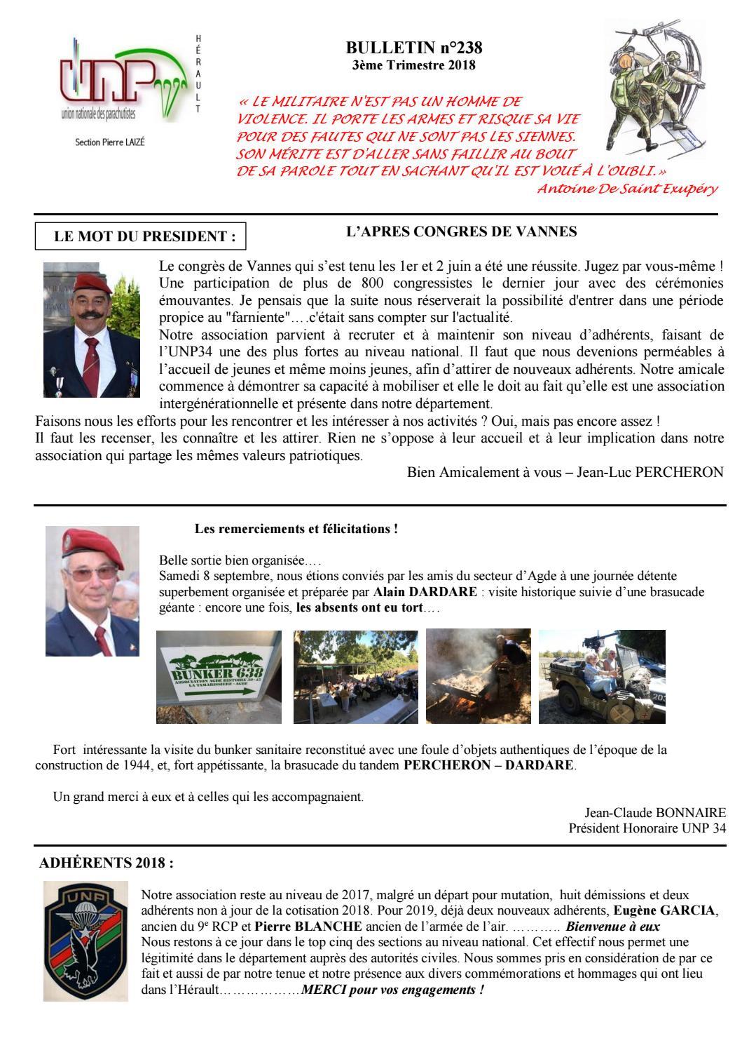 Unp 34 Bulletin N 238 By Président Aaleme Issuu