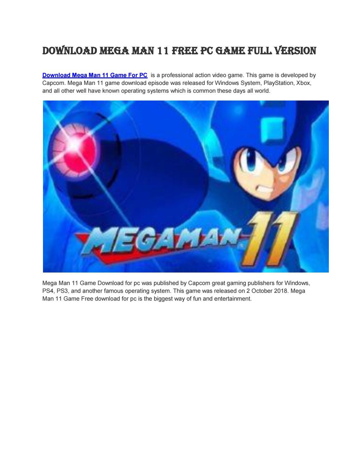 Download Mega Man 11 Free PC Game Full Version by