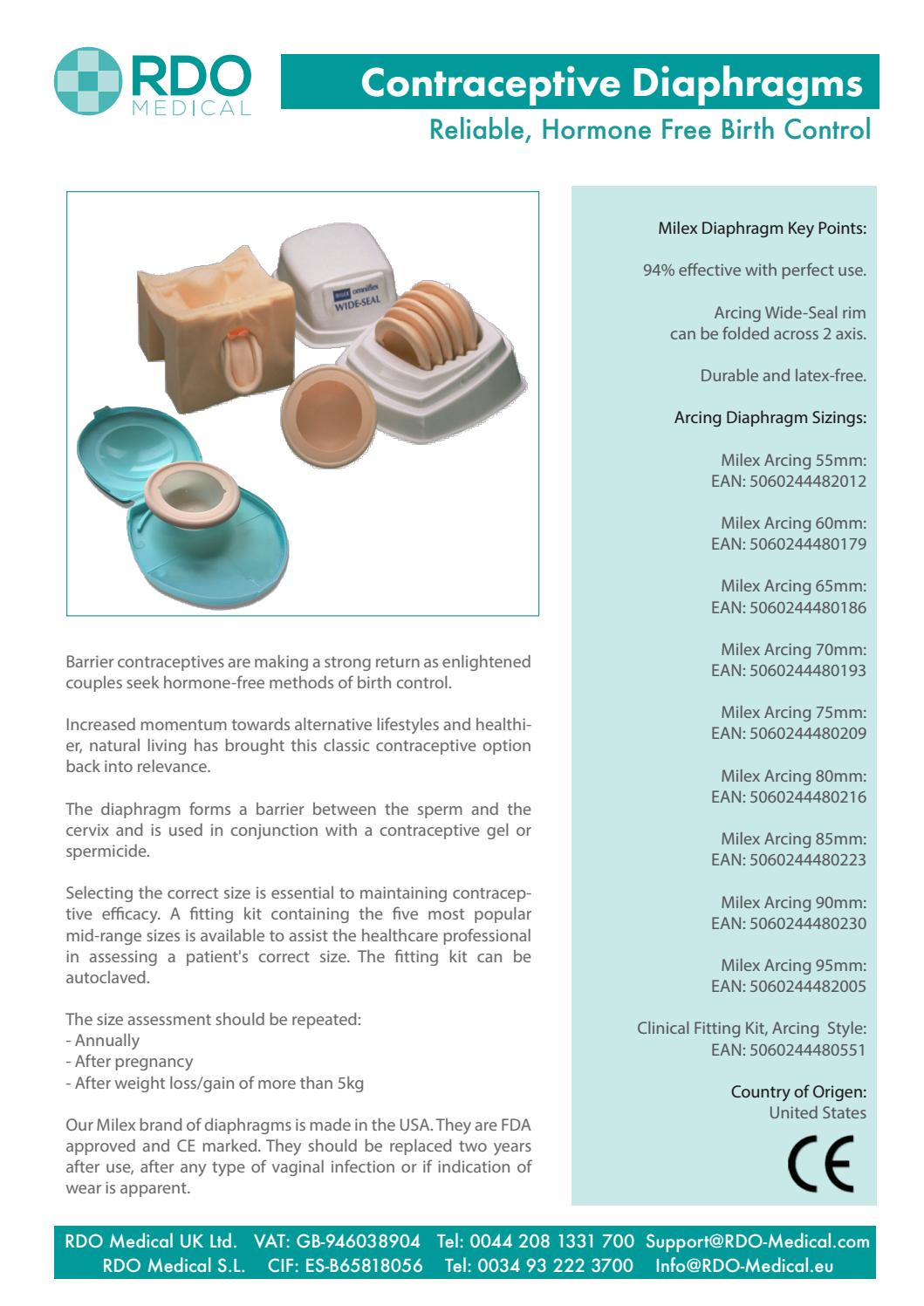 Milex Arcing Contraceptive Diaphragms For Non Hormonal Birth Control By Rdo Medical Issuu