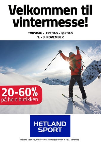 d7c0246f Hetland Sport Vintermesse kampanjemagasin 2018 by Stadion AS - issuu