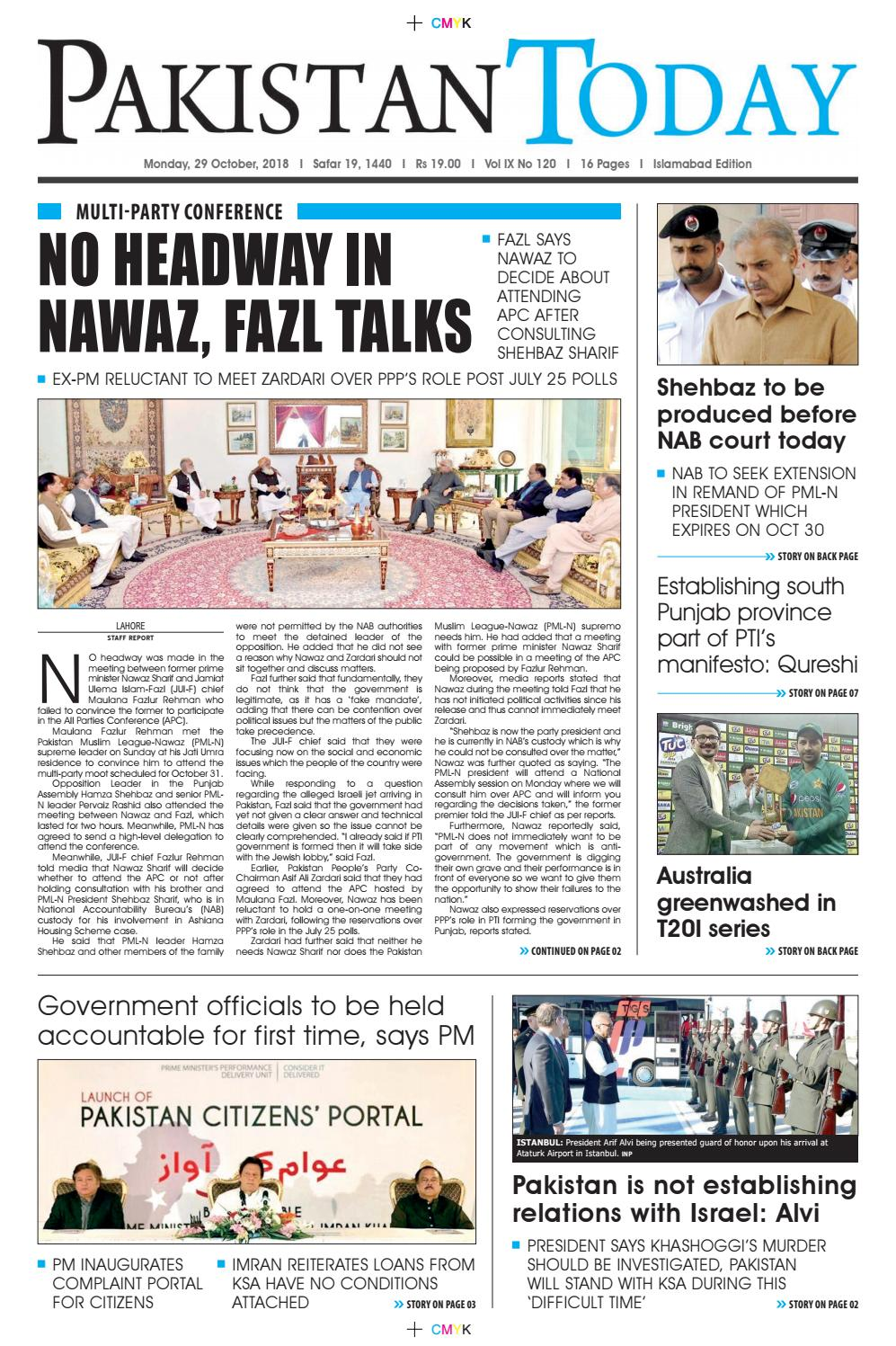 E-Paper PDF 29th October (ISB) by Pakistan Today - issuu
