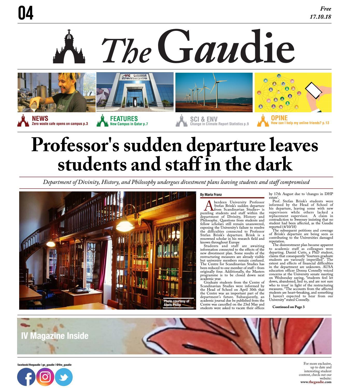 The Gaudie - 17 10 18 by The Gaudie - issuu