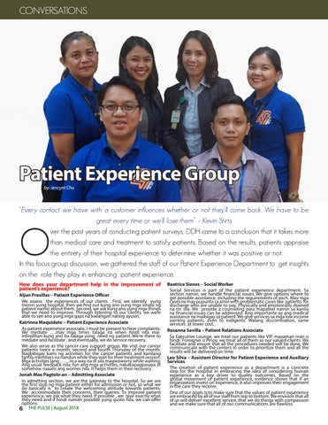 Page 6 of Conversations | Patient Experience Group