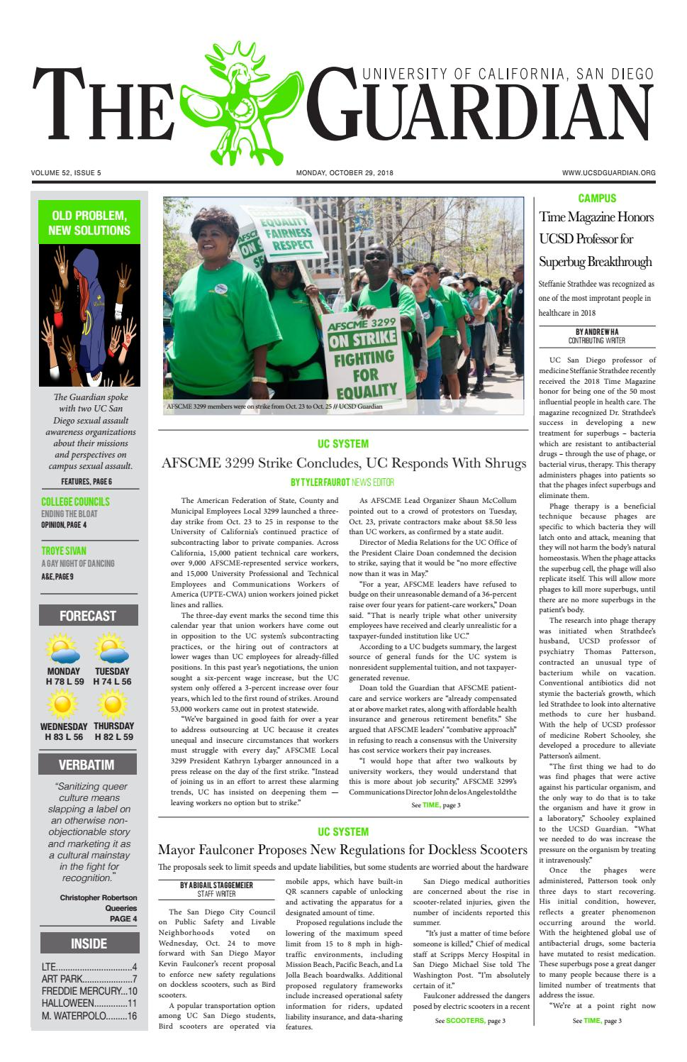 The UCSD Guardian 10/29/18 by UCSD Guardian - issuu