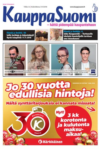KauppaSuomi 44 2018 (K-P) by KauppaSuomi - issuu 6d6279f4ac