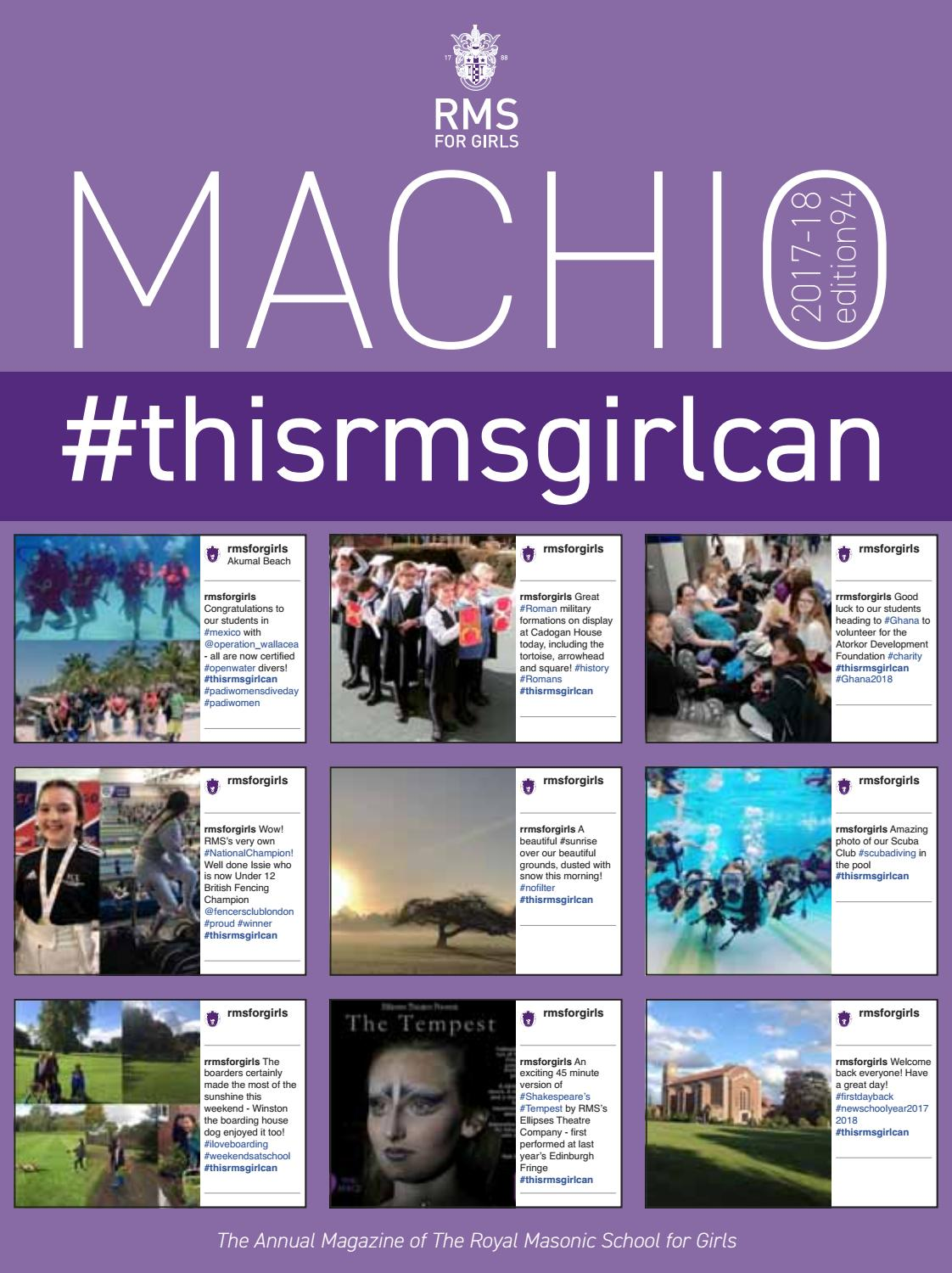 c1e5cd311859 Machio 2017-18 by The Royal Masonic School for Girls - issuu