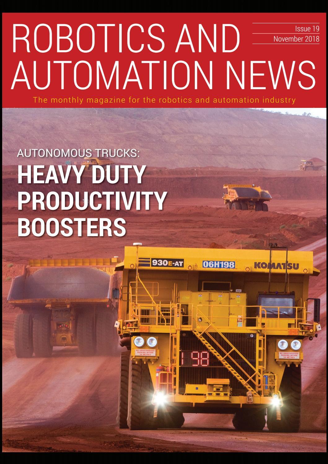 Robotics & Automation News, November 2018 by