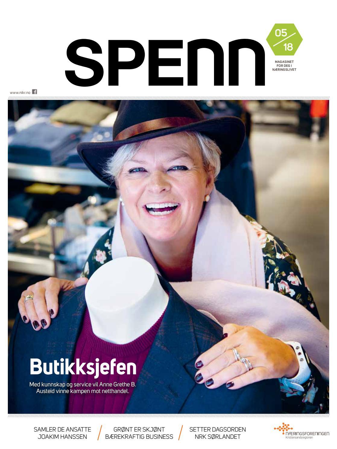 3f73109f SPENN 5/18 Magasinet for deg i næringslivet by Næringsforeningen i  Kristiansandsregionen - issuu