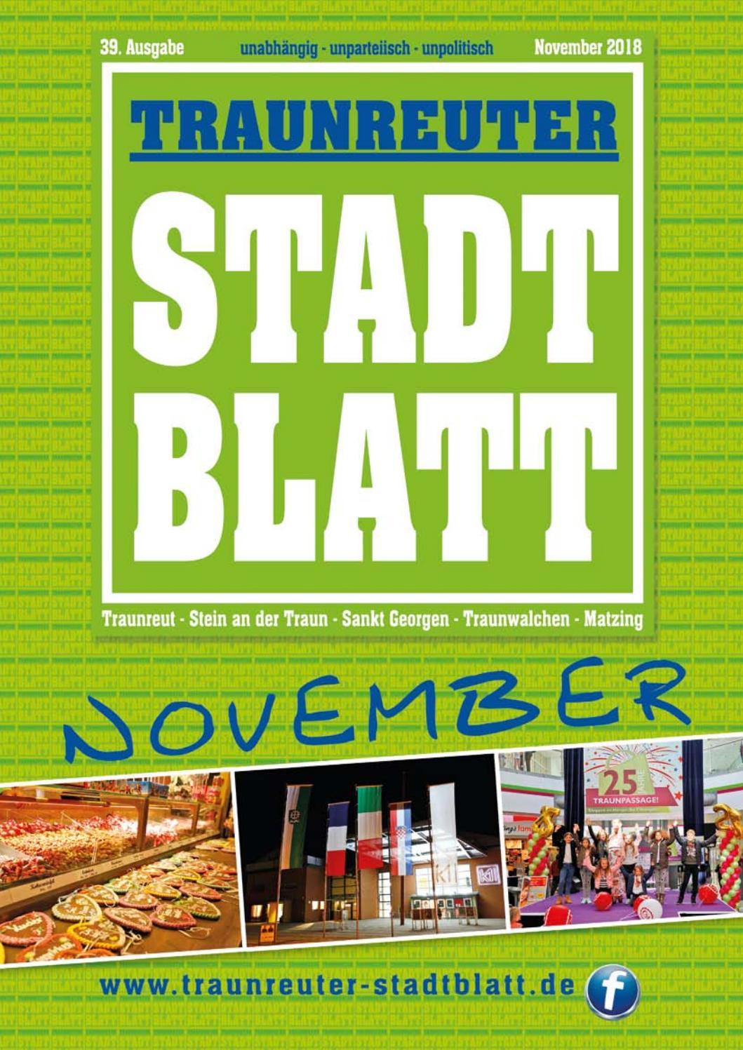 Traunreuter Stadtblatt November 2018 By Traunreuter
