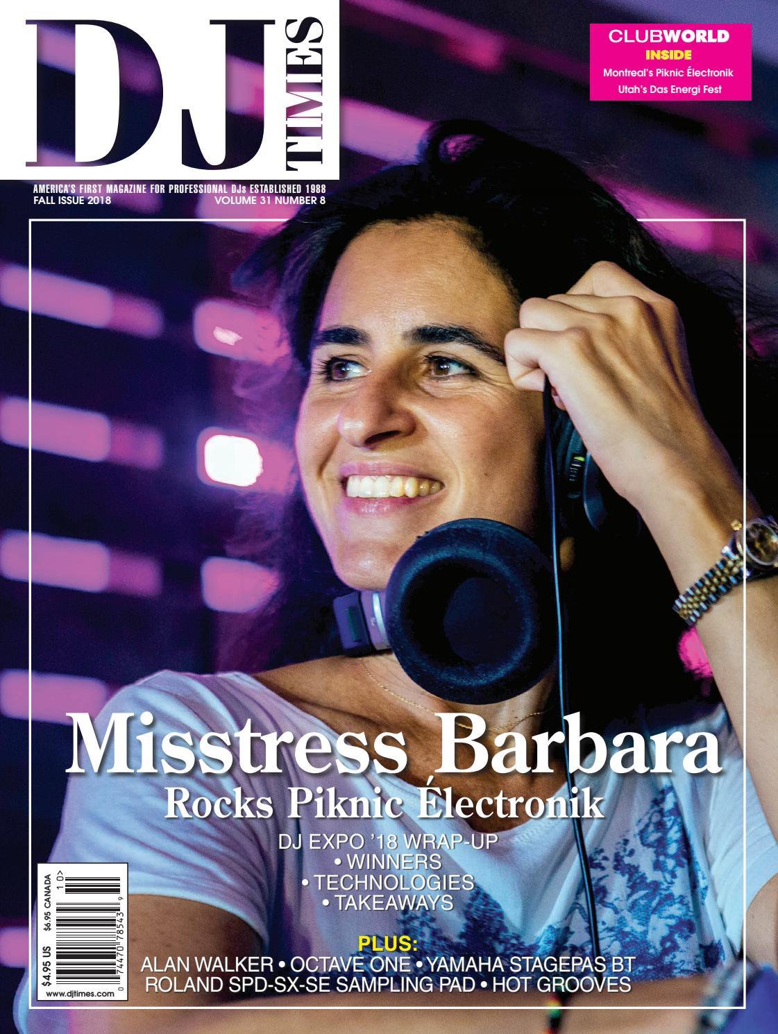 DJ Times October 2018, Vol 31 No 8