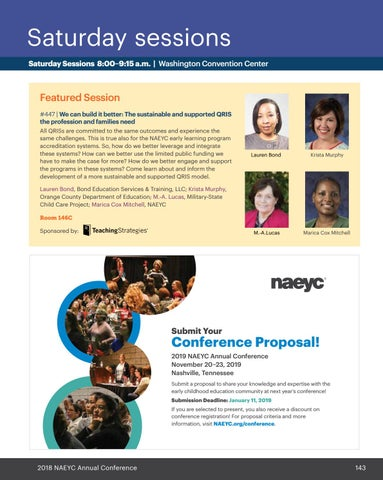 NAEYC 2018 Annual Conference Program by NAEYC - issuu